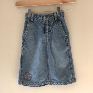 Vintage Osh Kosh toddler girl long jean skirt.